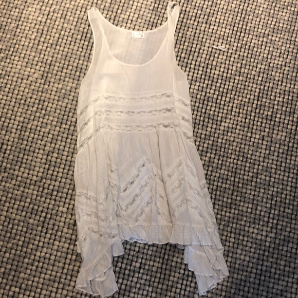 Free people white lace cover-up dress